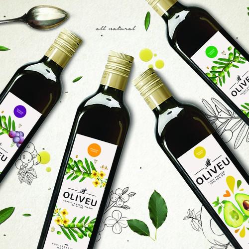 Oil label design