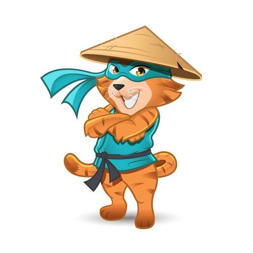 Support Ninja Mascot