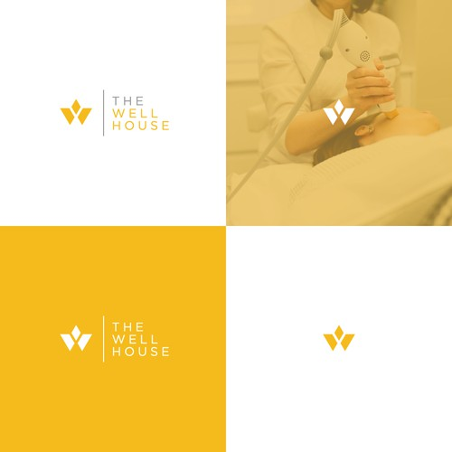 Iconic and modern flat Logo design for a Medical spa