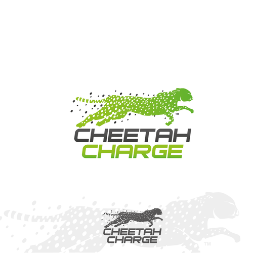 "Create a cool and distinctive logo that matches ""Cheetah Charge"" and symbolizes speed."