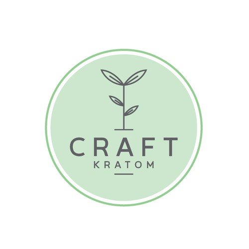 simple logo for craft kratom