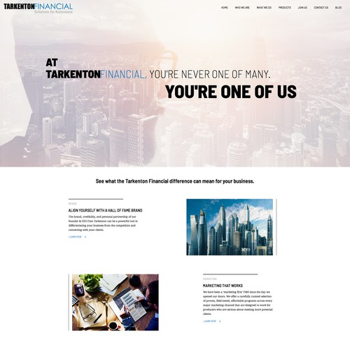 Simple and elegant design for financial site