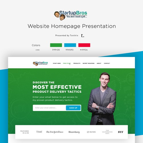 Startup Bros Home Page Design