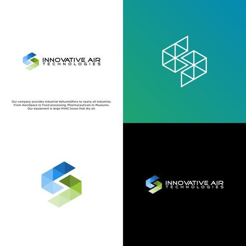 Abstract logo for aerospace company