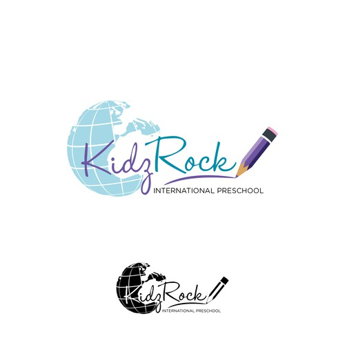 Logo for an international preschool