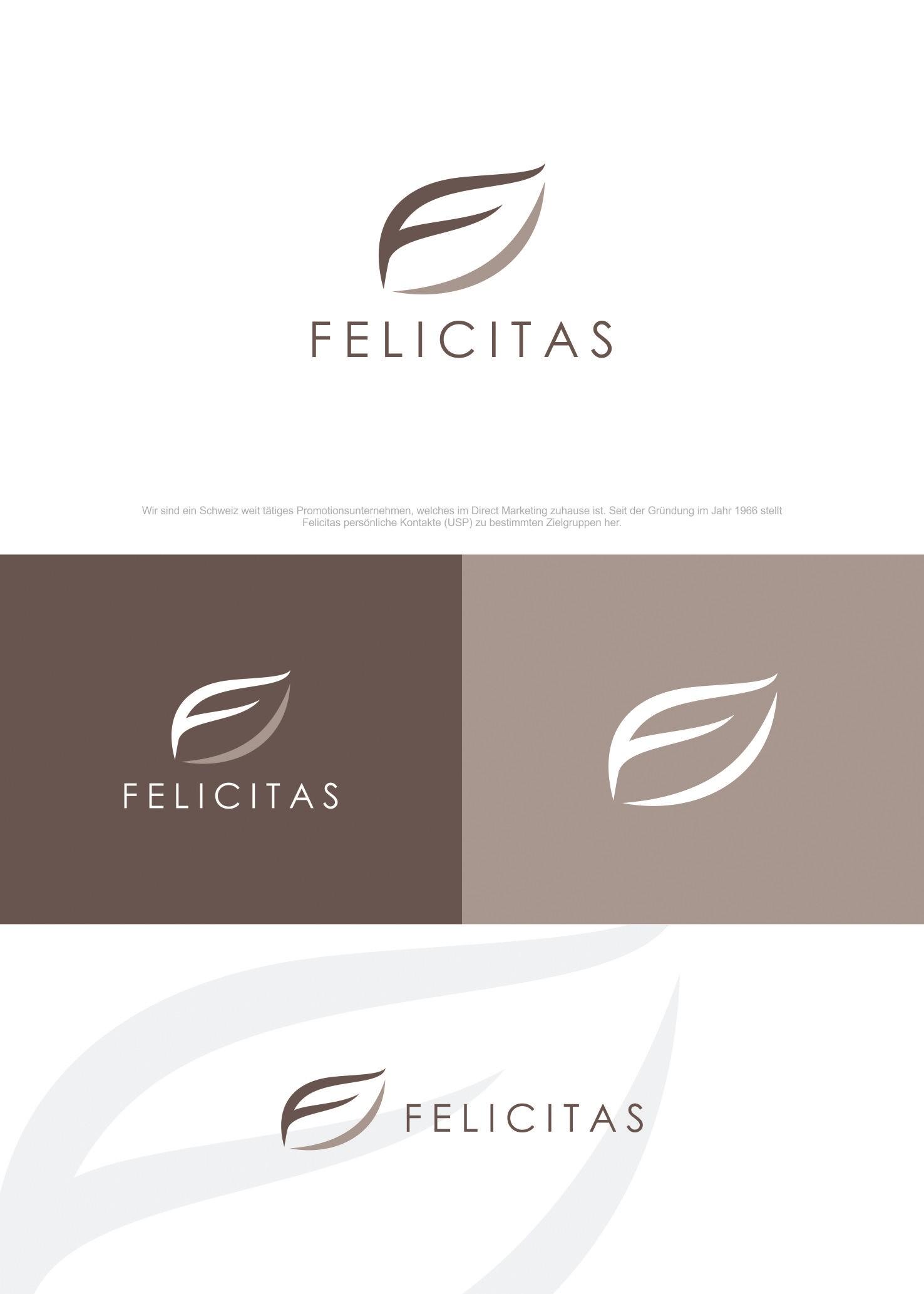 Felicitas braucht einen neuen Auftritt, erstelle unser Corporate Design