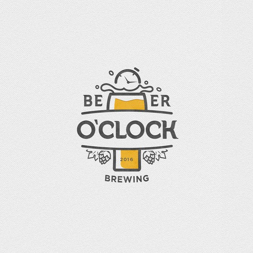 Logo concept for Beer O'Clock brewery