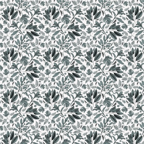 Botanical geometric pattern