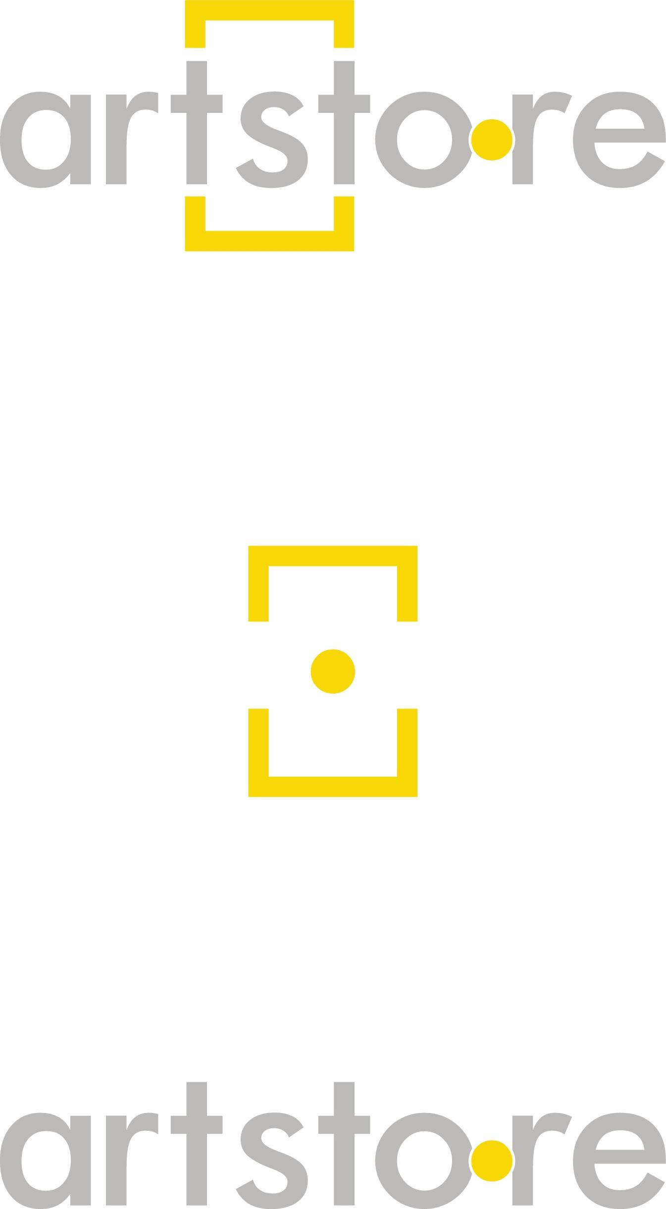Create an artistic modern logo for an online art store