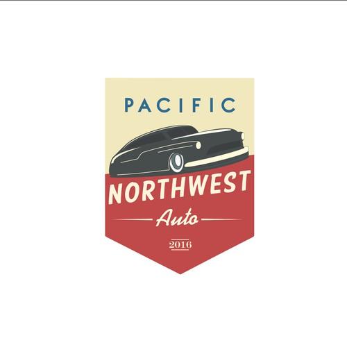 vintage logo for classic car workshop