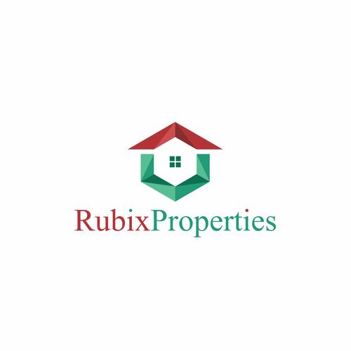 Rubix properties logo design