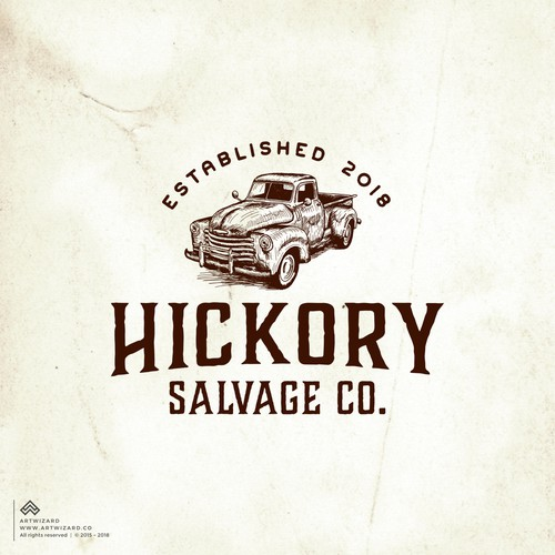 Vintage Logo for Hickory Salvage Co.