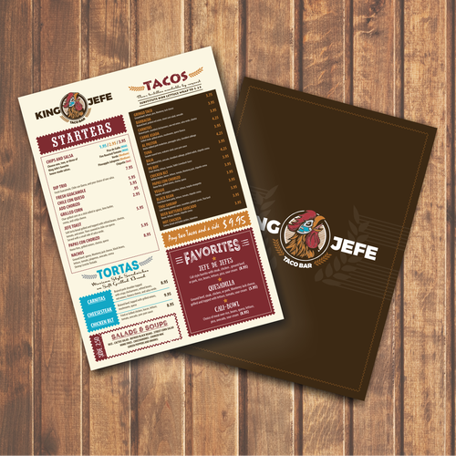 KING JEFE MENU