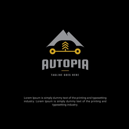 Minimalist Retro Theme Automotive Dealership Logo