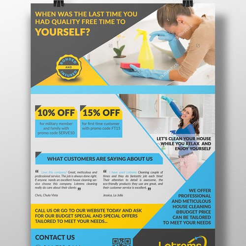 Home Cleaning Service Flyer Design