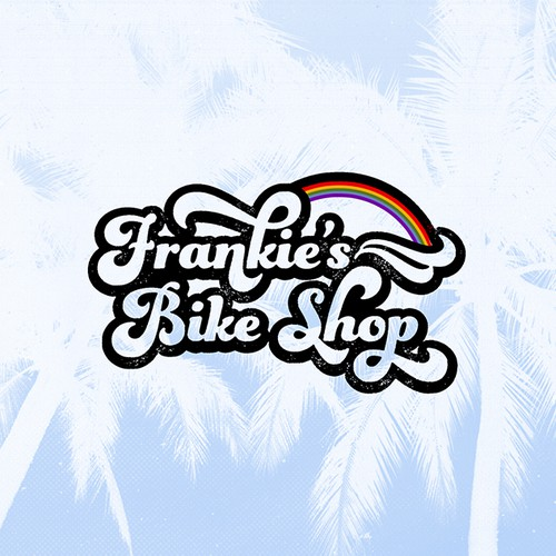 vintage logo for beach bicycle shop
