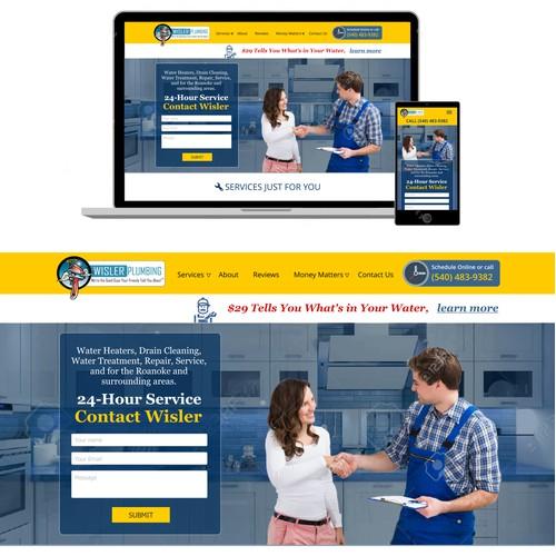 Wisler plumbing website design