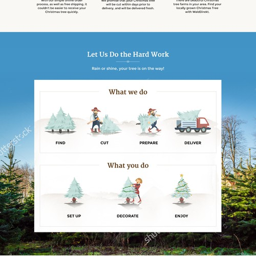 Website design for Christmas Tree company