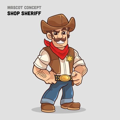 mascot concept for shop sheriff