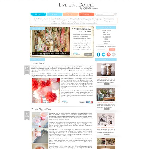Live Love Doodle - website design