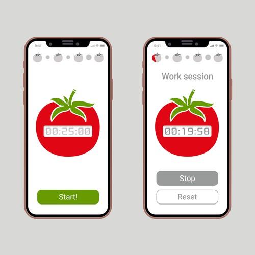 Pomodoro app design