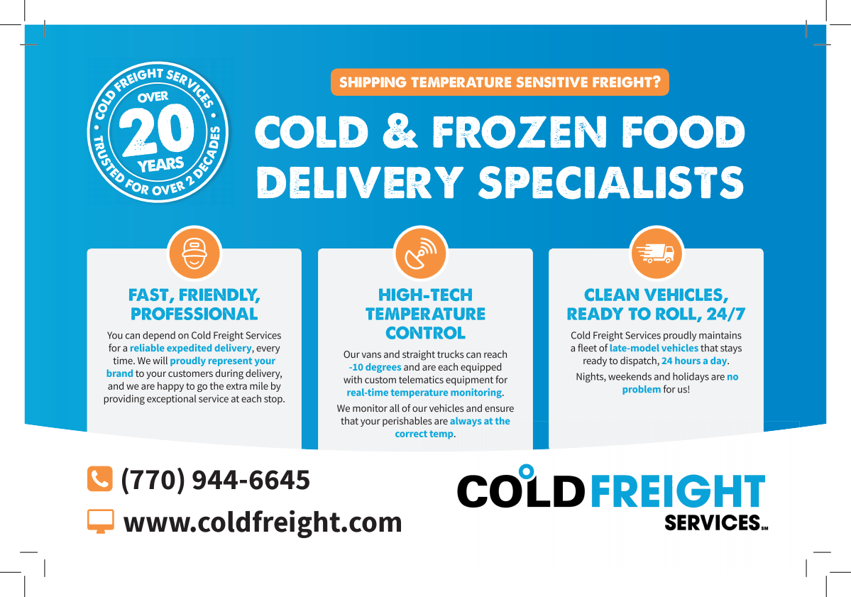 Cold Freight Post Card Mailer