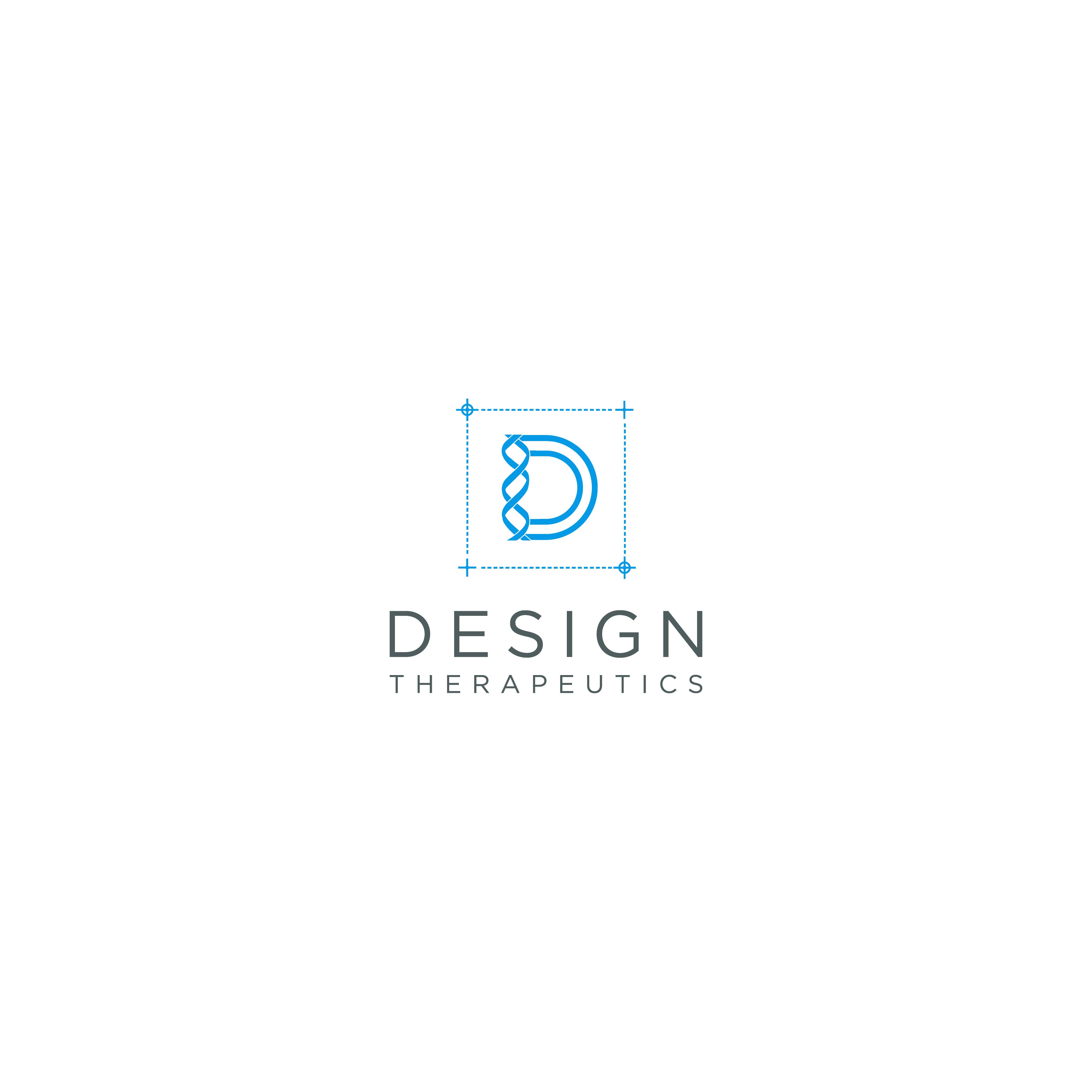 Modern logo for a biotech company focused around design concepts