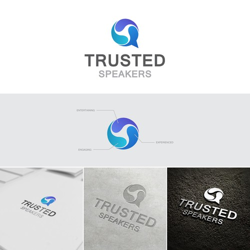 "Logo concept of ""Trusted Speakers"""