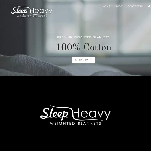 Minimalist logo for premium weighted blankets