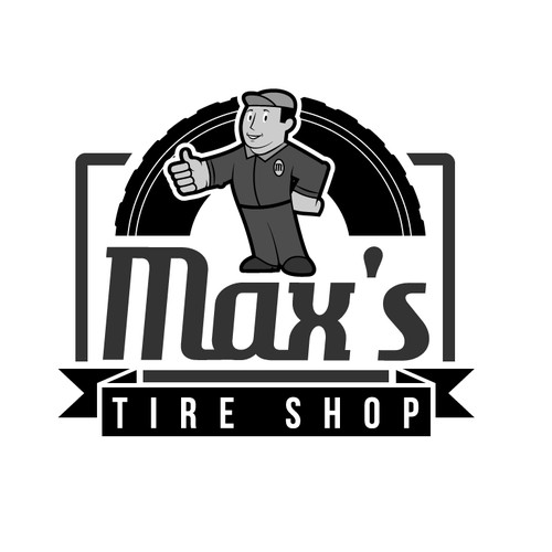 Create the next logo for Max's Tire Shop
