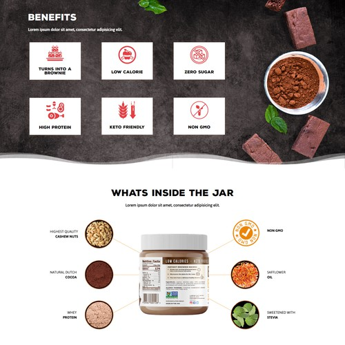Brownie Butter Landing Page