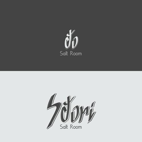 Satori salt room concept logo design