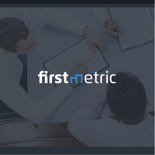 Firstmetric logo concept