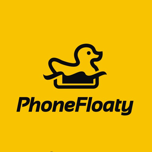 Logo design for floating phone casing.