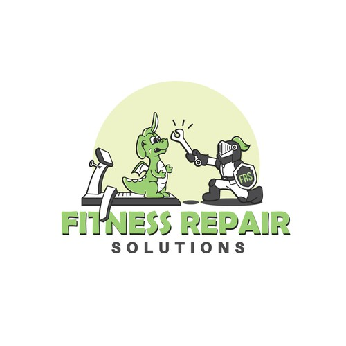 Illustrated Logo for Fitness Repair Solutions