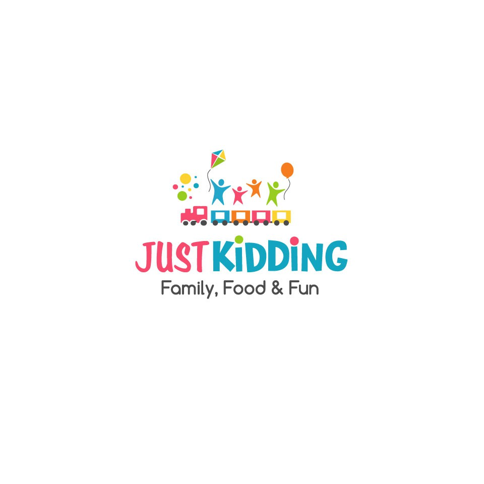 """Design a cool logo for the new """"Just Kidding"""" amusement park"""