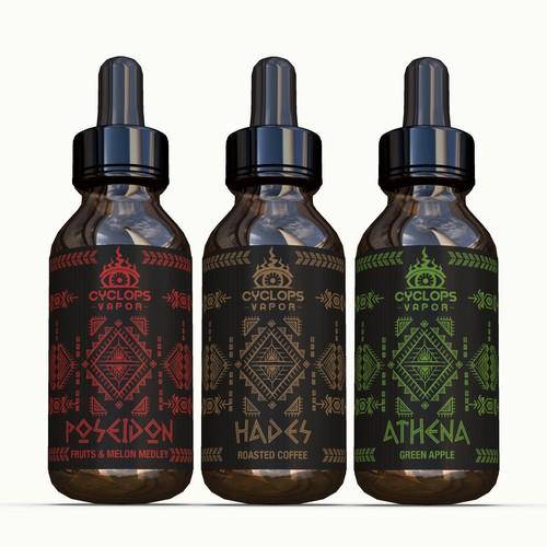 Label design for greek vapor products