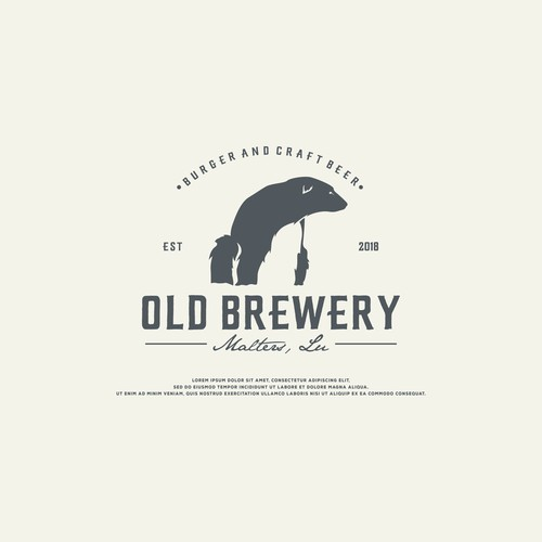 old brewery logo concept