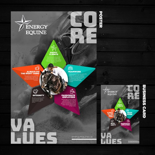 Poster and Business Card for Energy Equine