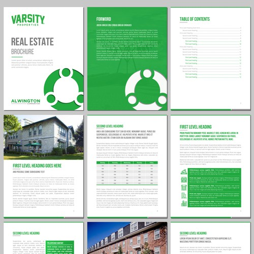 A Report Template for a Real Estate Company
