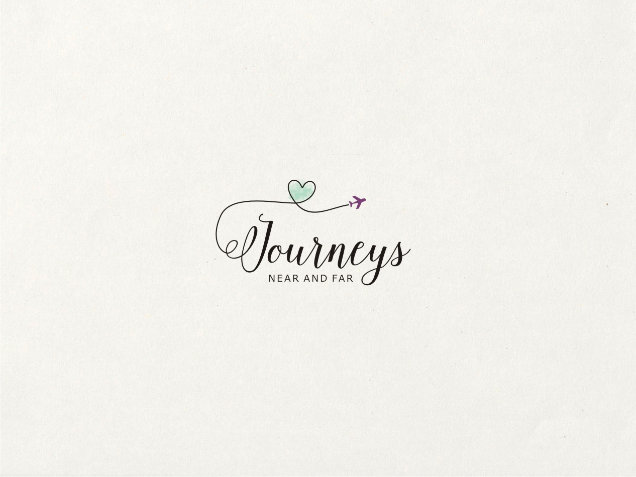 Create an alluring logo for a Romance Travel Agent