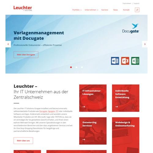 Hoempage Design for Leuchter IT Solutions
