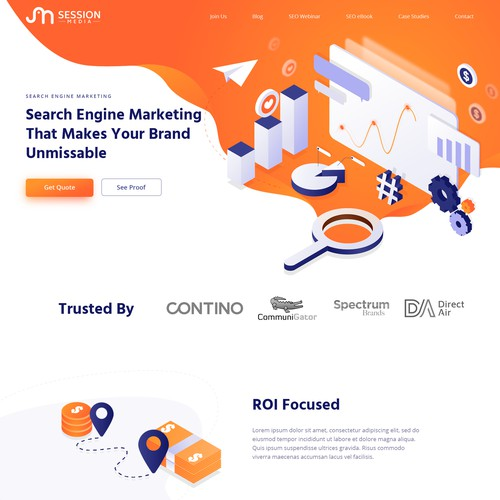 Clean illustrated concept for SEO company
