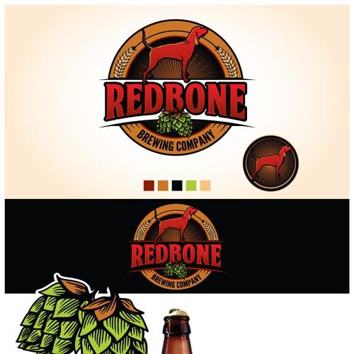 Redbone Dog Beer Logo