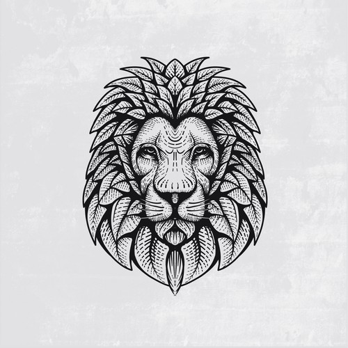 lion and leaf logo