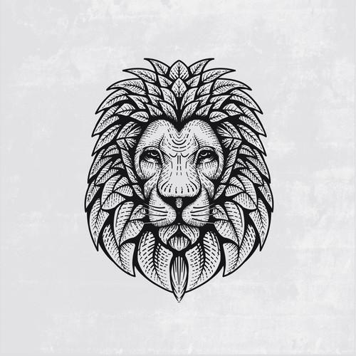 lion and leaf logo