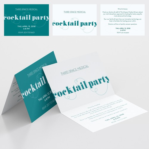 Invitation card // Cocktail party