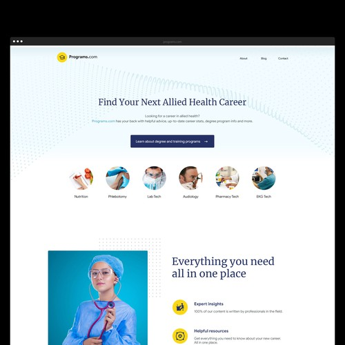 Programs.com Platform Ui Design
