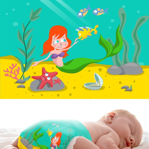 Baby Swimming Diaper Design