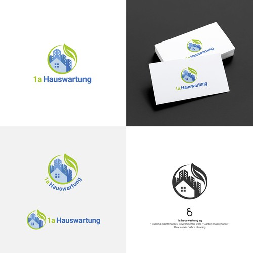 Logo design for 1a hauswartung ag